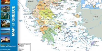 Kort Grækenland øer - Kort af græske øer (Sydlige Europa - Europa)